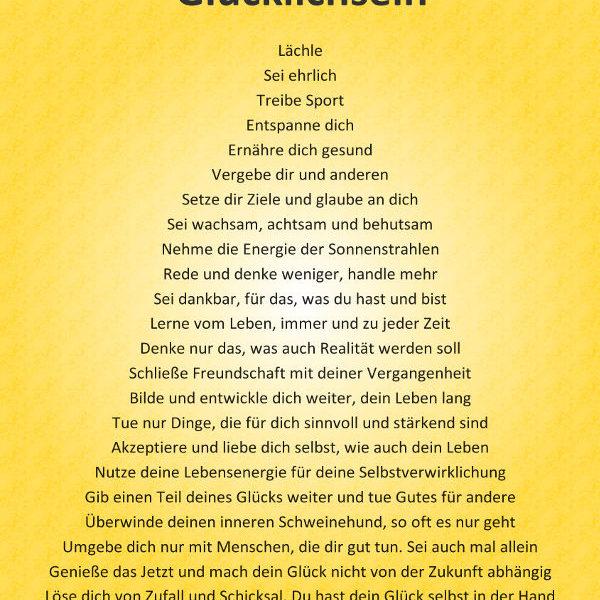Poster A1 - Anleitung zum Glücklichsein thumb